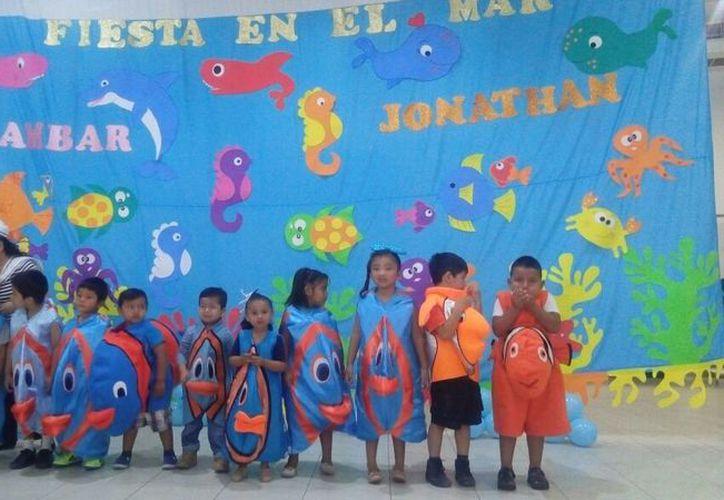 Los alumnos portaron disfraces de animalitos. (Luis Soto/SIPSE)
