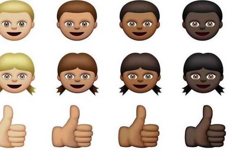 Al presionar sobre un emoji, tendrás varias opciones para cambiar de color. (hashslush.com)
