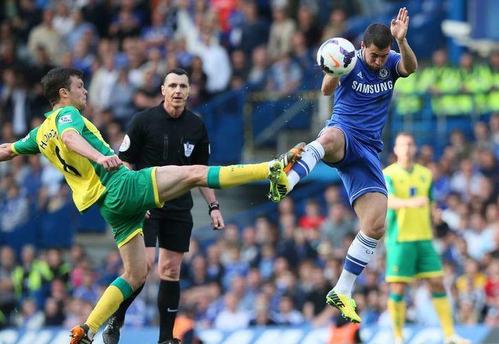 El Chelsea no pudo pasar de un empate 0-0 ante el Norwich, en partido jugado en Stamford Bridge en domingo. (AP)