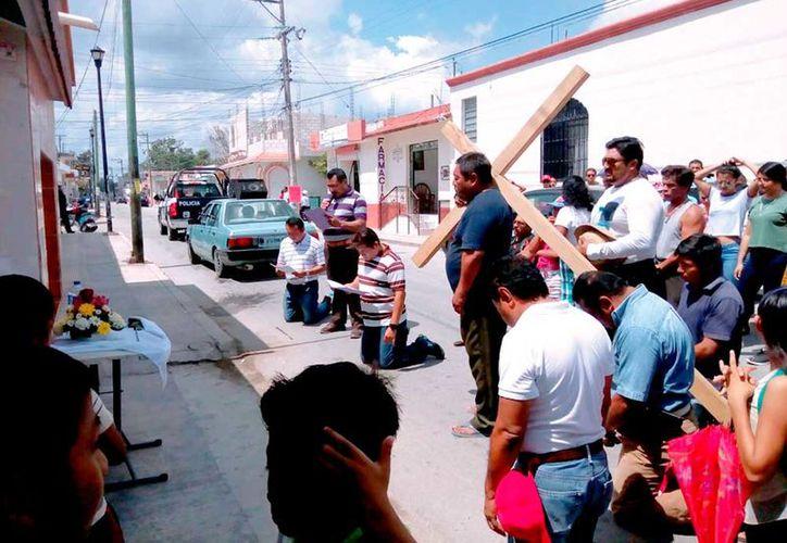 Los participantes escucharon misa en la Parroquia de San Joaquín.