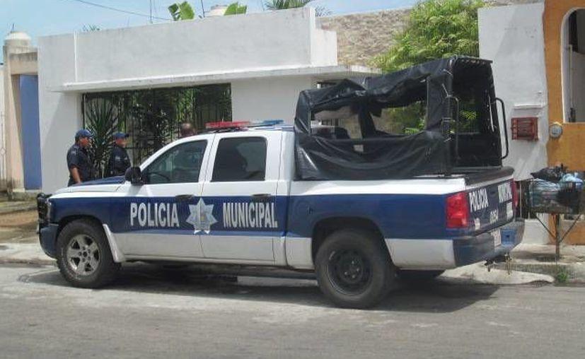 Policías trasladaron al acusado a Seguridad Pública. (Archivo/SIPSE)