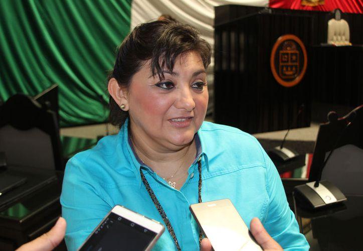 La legisladora local, Eugenia Solís Salazar, se pronunció a favor de la libertad de expresión y crítica a las instituciones.  (Foto: David de la Fuente / SIPSE)