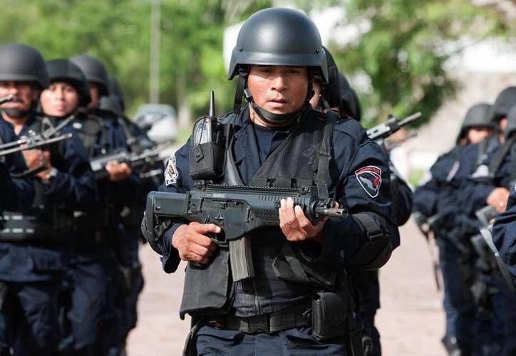 Cuenta con cursos de Actualización para Policía Preventivo. (Carlos Horta/ SIPSE)