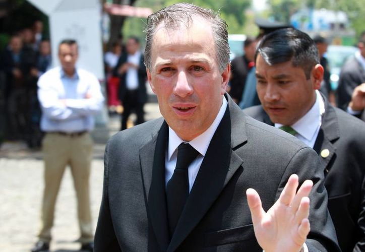 Los 23 miembros del gabinete de Peña Nieto realizaron su declaración de conflictos de interés ante la Secretaría de la Función Pública. En la imagen el secretario de Relaciones Exteriores, José Antonio Meade, quien se negó hacer pública su declaración. (Archivo/Notimex)