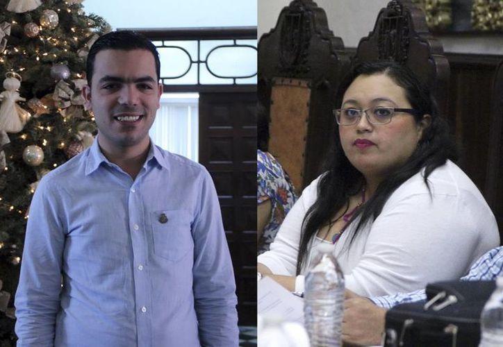 El resto de los regidores del Ayuntamiento de Mérida deseó éxito a José Lixa y a Yahaira Centeno en sus proyectos políticos. (José Acosta/SIPSE)