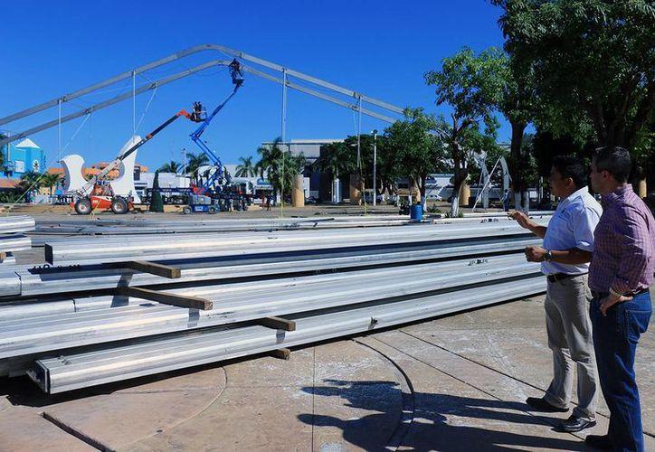 El domo medirá tres mil metros cuadrados. (Cortesía/SIPSE)
