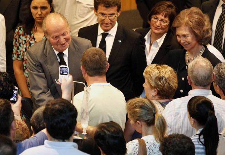 El monarca felicitó especialmente a los donadores de sangre. (Agencias)