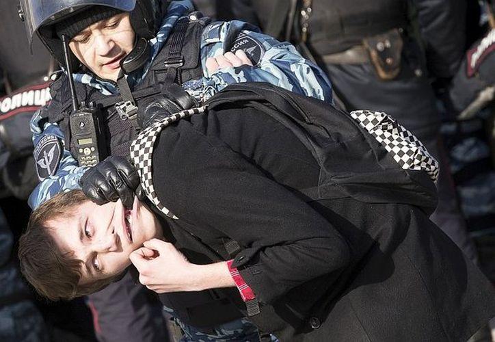 Las manifestaciones se centraron en las denuncias recientes de que el primer ministro ruso, Dmitry Medvedev. (Foto: agencia)