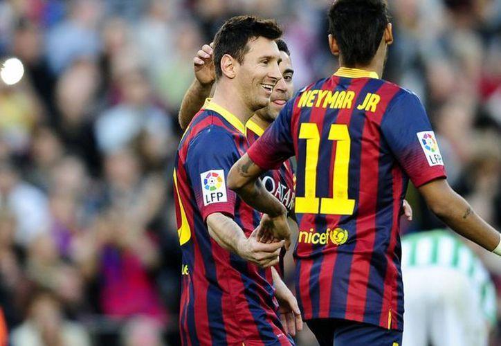 Con los dos goles anotados, Messi se acercó el récord de Telmo Zarra de tantos anotados en la Liga de 251. (Foto: Agencias)