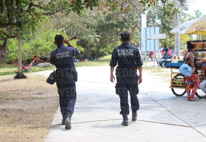 Los policías municipales alcanzan solo el 2 % de confianza. (David de la Fuente/SIPSE)