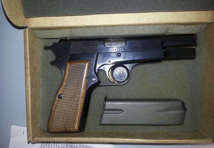 La pistola fue prestada por las autoridades penitenciarias de Roma. (Agencias)