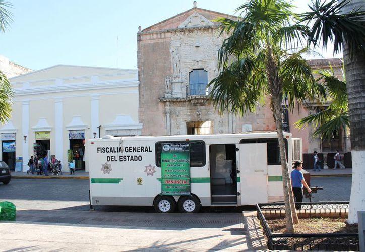 El Módulo Móvil fue instalado en la Plaza Grande el pasado 21 de noviembre. (SIPSE)