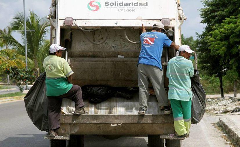Durante las vacaciones de verano se sumarán más rutas de recolección de basura en el municipio de Solidaridad. (Adrián Barreto/SIPSE)