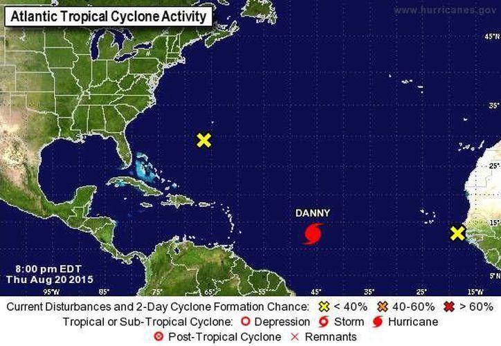 El huracán 'Danny' es el cuarto fenómeno con nombre que se forma en la temporada de ciclones vigente. (noaa.gov)