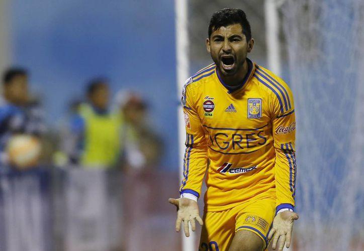 Amaury Escoto hizo el gol ante San José Oruro que permite a Tigres de la UANL seguir como líderes de su grupo en la Copa Libertadores de América. (Foto: AP)