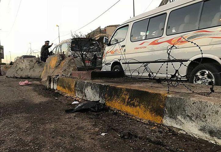 Las explosiones se produjeron de forma casi simultánea en Bagdad. (AP)