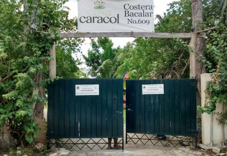 """Autoridades municipales determinaron clausurar el hostal """"Casa Caracol"""". (Javier Ortiz/SIPSE)"""