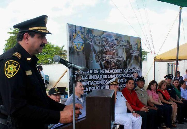 Saidén reiteró que el objetivo principal es sacar del rezago a las policías municipales. (Foto: cortesía)