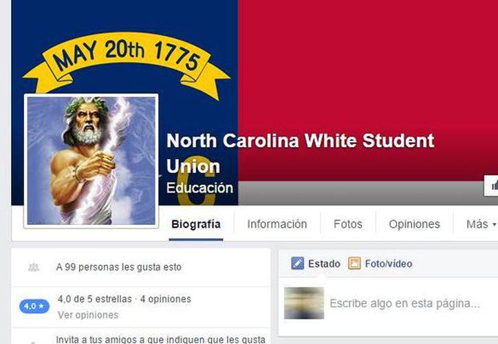 En Facebook proliferan uniones de estudiantes blancos agrupados por estados. Según sus creadores, buscan restaurar 'la grandeza de nuestra virtuosa gente'. (Captura de pantalla/Facebook)