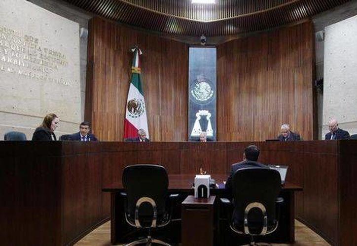 Aspecto de una sesión del Tribunal Electoral del Poder Judicial de la Federación. (Imagen cortesía/Publicada en MILENIO)