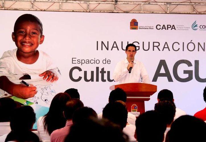 El alcalde durante su discurso en el evento. (Cortesía/SIPSE)