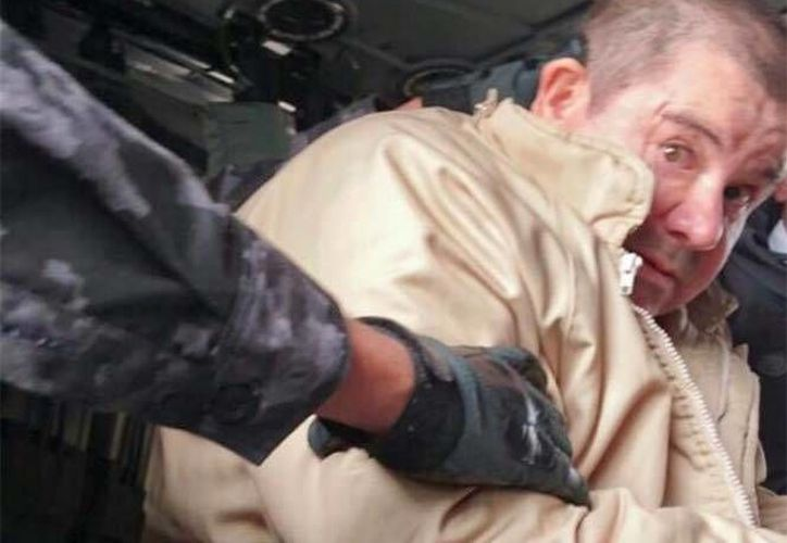 La PGR dio a conocer imágenes del traslado hacia Estados Unidos de 'El Chapo'. (PGR)