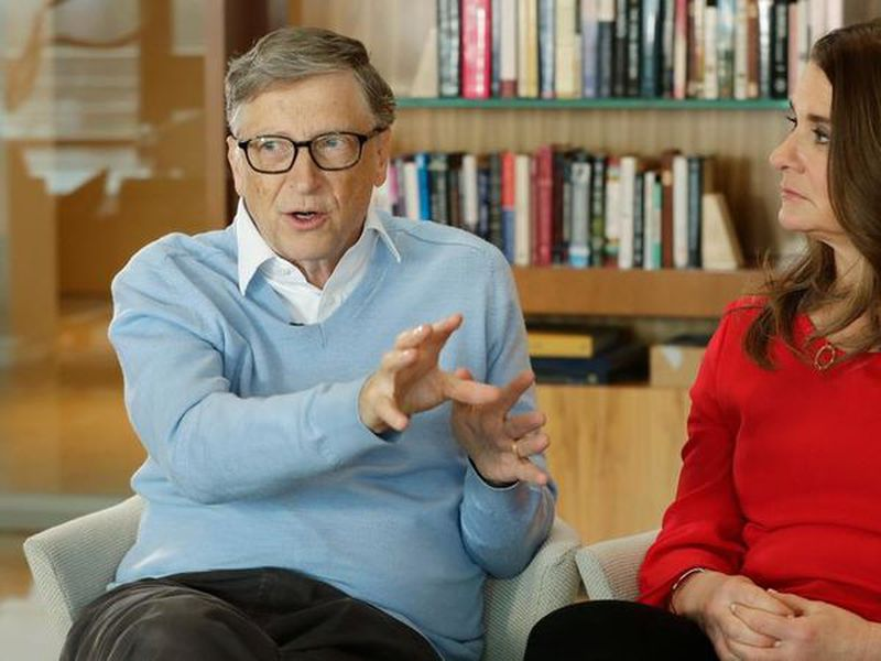 In this Feb. 1, 2018 file photo, Microsoft co-founder Bill Gates and his wife Melinda take part in an AP interview in Kirkland, Wash. (AP)