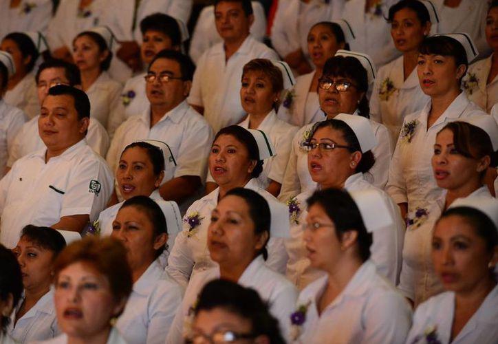 Ayer egresó la primera generación de maestras en Enfermería. (Milenio Novedades)