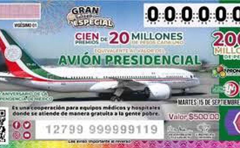 Se dieron a conocer los primeros números ganadores del avión presidencial. Foto: Especial).