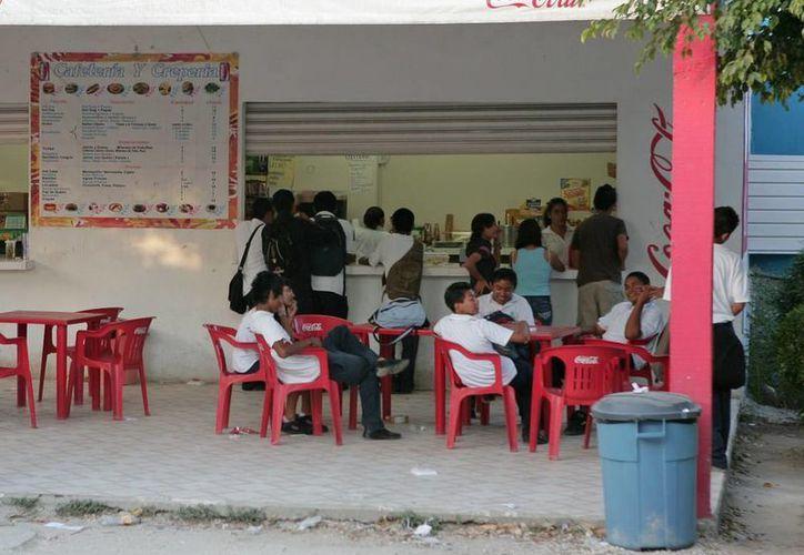 Más de 500 tiendas escolares fueron licitadas y concesionadas, las cuales deben cumplir con la norma que establece que vendan alimentos nutritivos a los alumnos, y que porten una vestimenta adecuada. (Harold Alcocer/SIPSE)