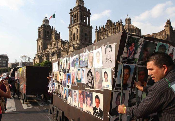 Las cifras que ha emitido el gobierno federal sobre los desaparecidos han tenido muchas fluctuaciones. (Notimex/Archivo)