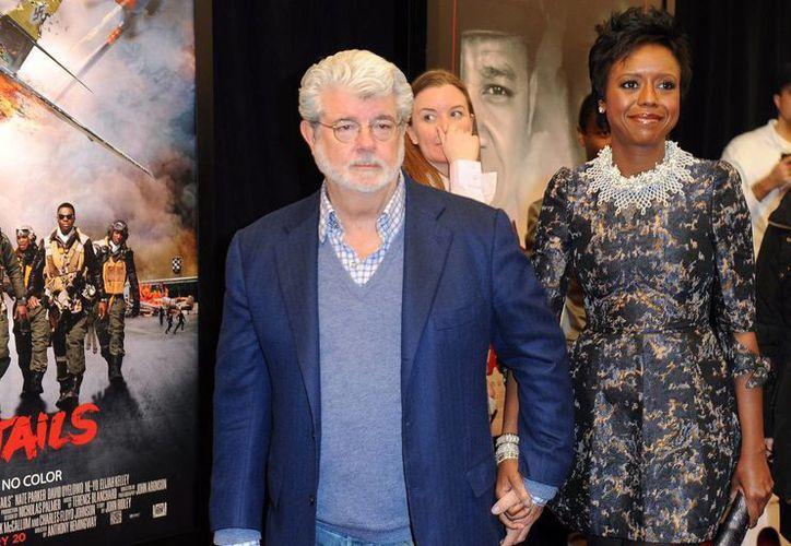 George Lucas y su esposa Mellody Hobson. (EFE/Archivo)