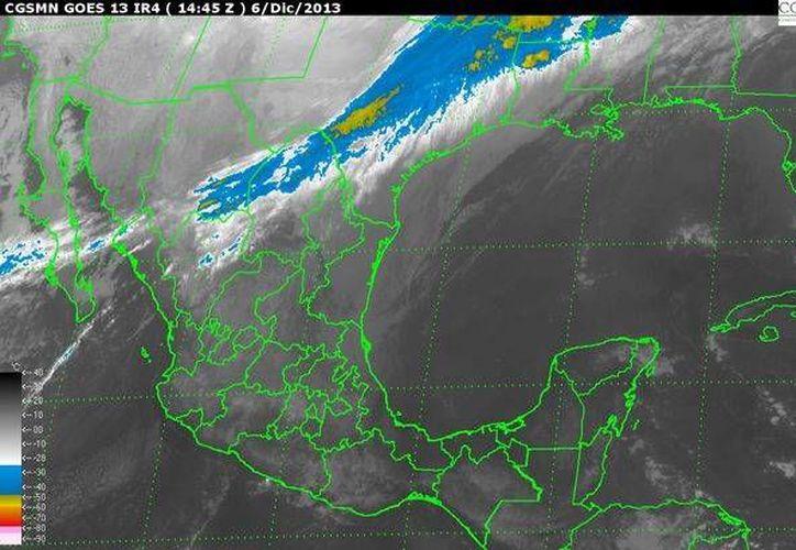El frente frío número 17 afectará principalmente el centro de Tamaulipas y Norte de Chihuahua. (smn.cna.gob.mx)