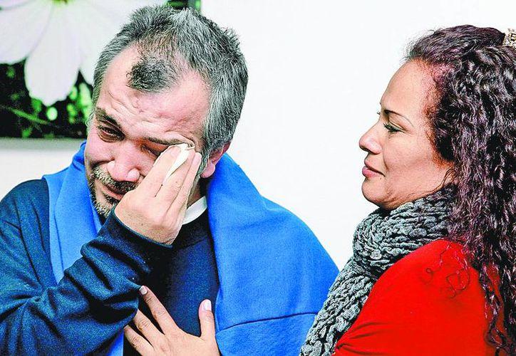 Luz Edith Sarmiento, esposa de Guzmán Velázquez, fue amenazada con matar a toda su familia si denunciaba el hecho. (Milenio)