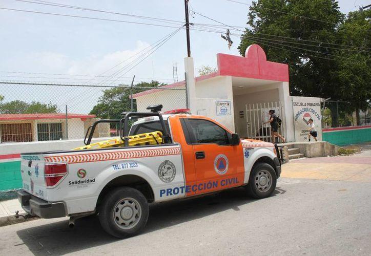 La lista de los refugios anticiclónicos que hay en el municipio de Solidaridad se puede consultar en las instalaciones de Protección Civil. (Adrián Barreto/SIPSE)