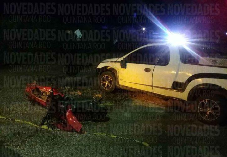 Los vehículos que están involucrados en el accidente. (Redacción)