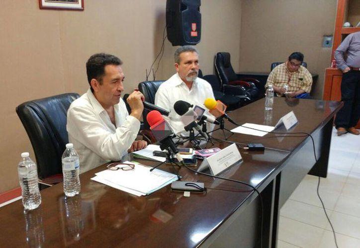Imagen de la conferencia de prensa en donde anunciaron las diversas actividades con motivo del Día Mundial de la Prevención del Suicidio, este 10 de septiembre. (José Salazar/Milenio Novedades)