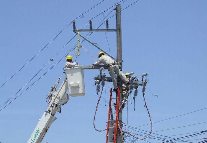 Usuarios piden a la Comisión Federal de Electricidad mejorar el servicio, ya que la interrupción de éste provoca problemas. (Rossy López/SIPSE)