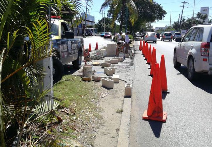 Los cambios son parte de los trabajos de reingeniería sobre la avenida Kabah. (Pedro Olive/SIPSE)