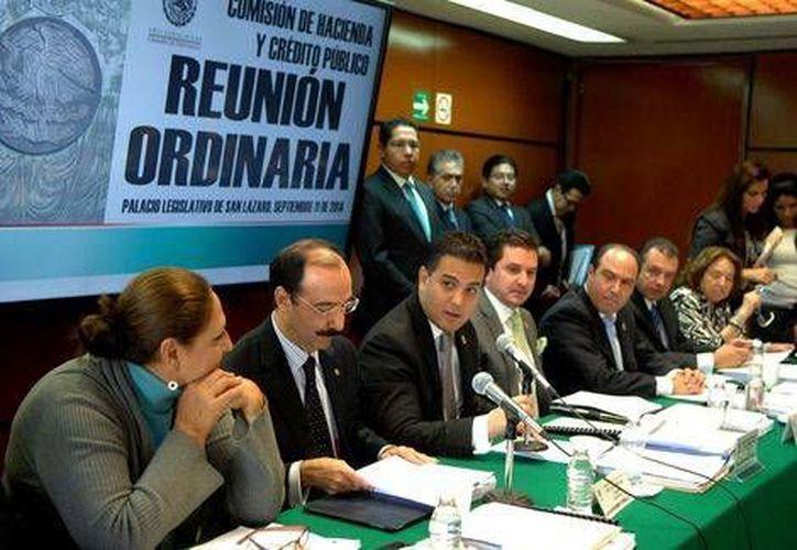 Reunión de la Comisión de Hacienda de la Cámara de Diputados.(Milenio)
