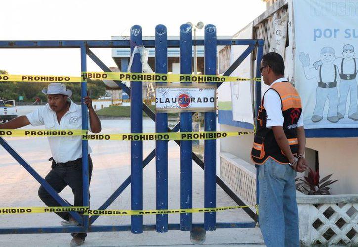 La gasera Z Gas fue clausurada por Protección Civil ayer. (Adrián Barreto/SIPSE)