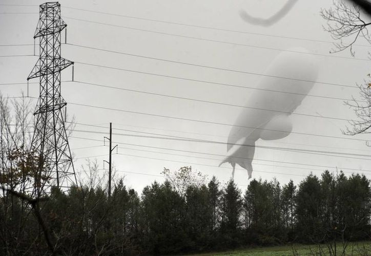 El dirigible alcanzó una altura de cerca de cinco mil metros. (AP)