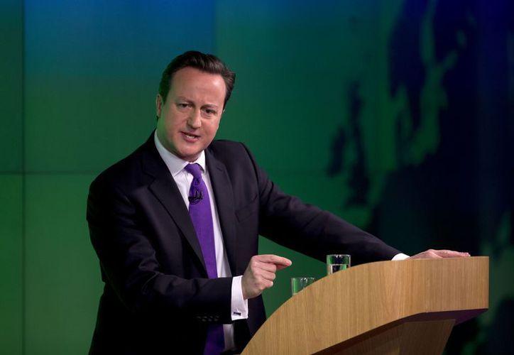 Cameron enfatizó que su principal prioridad es renegociar el tratado de la UE, no abandonar el bloque. (Agencias)