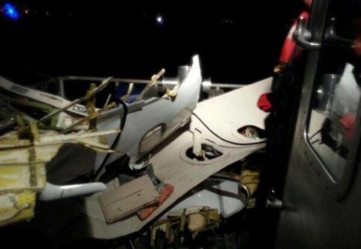 Los restos de la Learjet 35 fueron encontrados por la Guardia Costera de los Estados Unidos. (Cortesía/SIPSE)