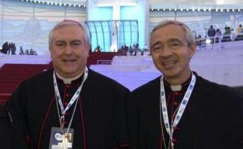Monseñores Emilio Carlos Berlie Belaunzarán y Jorge Patrón Wong. (Milenio Novedades)