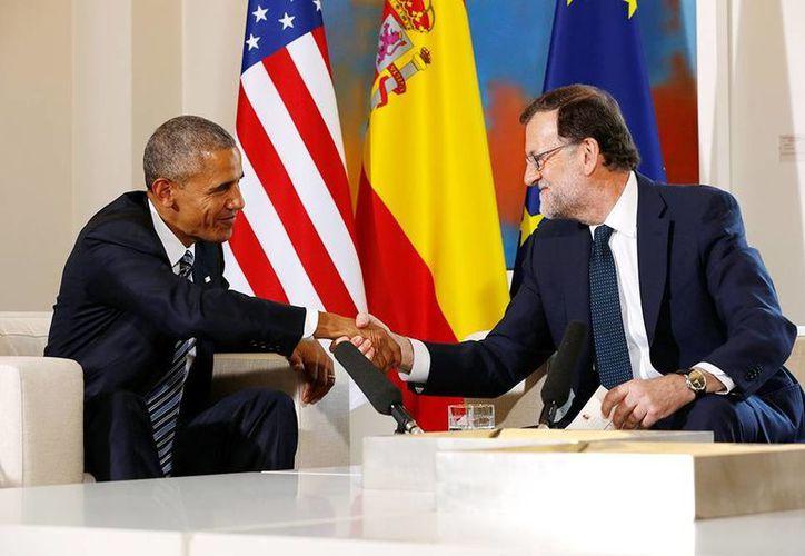 Barack Obama se entrevistó con el presidente del Gobierno español en funciones, Mariano Rajoy. (AP)