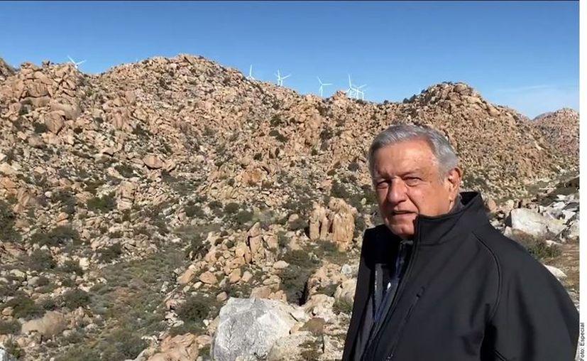 El Presidente Andrés Manuel López Obrador reprobó que Gobiernos estatales hayan dado los permisos para instalar los ventiladores en La Rumorosa, Tijuana. (Agencia Reforma)