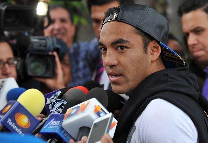 Marco Fabián no quiere hablar del tema Chivas, mientras todavía esté como delantero de Cruz Azul, equipo que jugará por el tercer lugar del Mundial de Clubes. (Archivo/NTX)