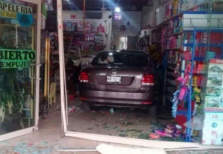 El incidente sólo registró daños materiales que fueron valorados en más de 25 mil pesos. (Foto: Excélsior)