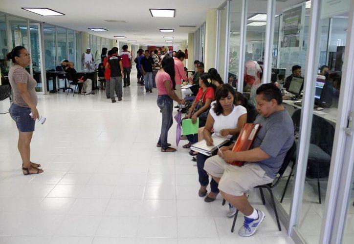 El número de cambios escolares disminuyó, debido a que los padres acudieron a la SEyC la semana pasada. (Sergio Orozco/SIPSE)
